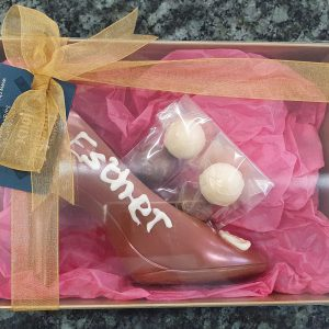 Personalised Chocolate Shoe and chocolates