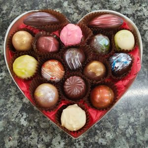 box of 16 heart box