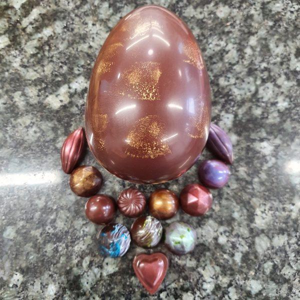 dark medium filled egg