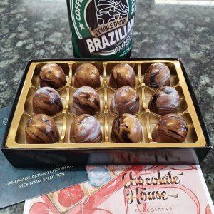 box of 12 beer caramels